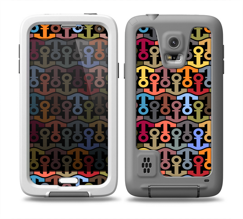 The Colorful Anchor Vector Collage Pattern Skin for the Samsung Galaxy S5 frē LifeProof Case