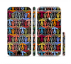 The Colorful Anchor Vector Collage Pattern Sectioned Skin Series for the Apple iPhone 6 Plus