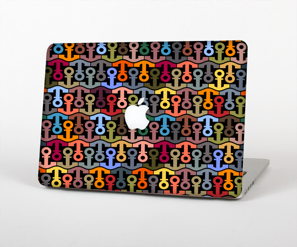 The Colorful Anchor Vector Collage Pattern Skin for the Apple MacBook Pro Retina 15""