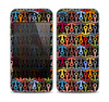 The Colorful Anchor Vector Collage Pattern Skin for the Apple iPhone 4-4s
