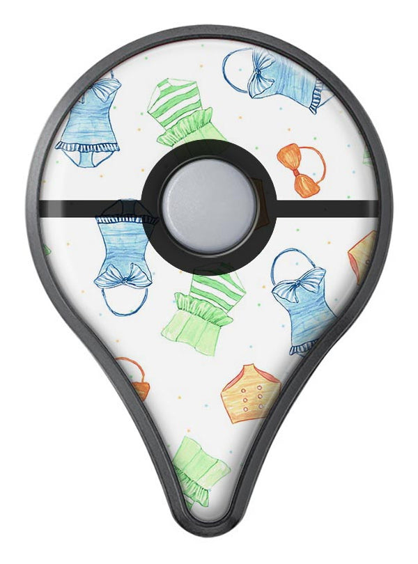 The Colorful Bathing Suit Pattern Pokémon GO Plus Vinyl Protective Decal Skin Kit