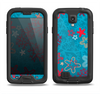 The Colorful Blue and Red Starfish Shapes Samsung Galaxy S4 LifeProof Fre Case Skin Set