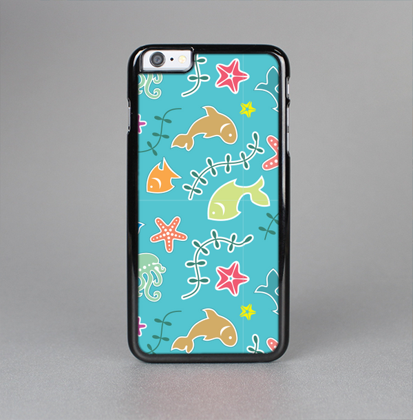 The Colorful Cartoon Sea Creatures Skin-Sert Case for the Apple iPhone 6 Plus