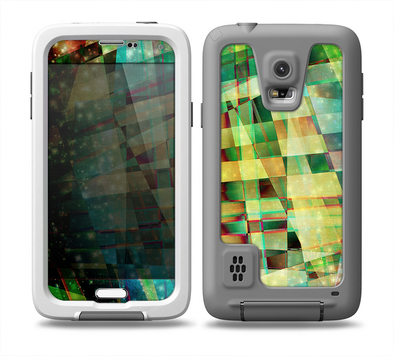 The Colorful Chaotic HD Shard Pattern Skin for the Samsung Galaxy S5 frē LifeProof Case