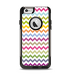 The Colorful Chevron Pattern Apple iPhone 6 Otterbox Commuter Case Skin Set