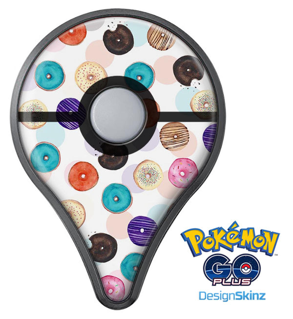 The Colorful Donut Overlay  Pokémon GO Plus Vinyl Protective Decal Skin Kit
