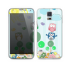 The Colorful Emotional Cartoon Owls in the Trees Skin For the Samsung Galaxy S5