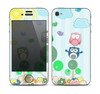 The Colorful Emotional Cartoon Owls in the Trees Skin for the Apple iPhone 4-4s