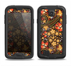 The Colorful Floral Pattern with Strawberries Samsung Galaxy S4 LifeProof Fre Case Skin Set