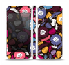 The Colorful Hugged Vector Leaves and Flowers Skin Set for the Apple iPhone 5