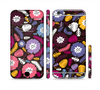 The Colorful Hugged Vector Leaves and Flowers Sectioned Skin Series for the Apple iPhone 6