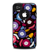 The Colorful Hugged Vector Leaves and Flowers Skin for the iPhone 4-4s OtterBox Commuter Case