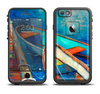 The Colorful Pastel Docked Boats Apple iPhone 6/6s LifeProof Fre Case Skin Set