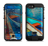 The Colorful Pastel Docked Boats Apple iPhone 6/6s LifeProof Fre POWER Case Skin Set