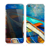 The Colorful Pastel Docked Boats Skin for the Apple iPhone 5s