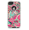 The Colorful Pink & Teal Seamless Paisley Skin For The iPhone 5-5s Otterbox Commuter Case