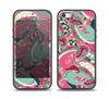 The Colorful Pink & Teal Seamless Paisley Skin Set for the iPhone 5-5s Skech Glow Case