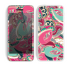 The Colorful Pink & Teal Seamless Paisley Skin for the Apple iPhone 5c