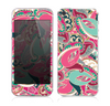 The Colorful Pink & Teal Seamless Paisley Skin for the Apple iPhone 5s
