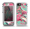 The Colorful Pink & Teal Seamless Paisley Skin for the iPhone 5-5s OtterBox Preserver WaterProof Case