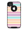 The Colorful Polka Dots on White Skin for the iPhone 4-4s OtterBox Commuter Case
