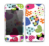 The Colorful Polkadot Hearts Skin for the Apple iPhone 4-4s