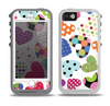 The Colorful Polkadot Hearts Skin for the iPhone 5-5s OtterBox Preserver WaterProof Case