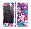 The Colorful Purple Flower Sprouts Skin Set for the Apple iPhone 5