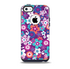 The Colorful Purple Flower Sprouts Skin for the iPhone 5c OtterBox Commuter Case