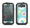 The Colorful Rubber Ducky and Blue Samsung Galaxy S3 LifeProof Fre Case Skin Set