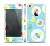 The Colorful Rubber Ducky and Blue Skin Set for the Apple iPhone 5