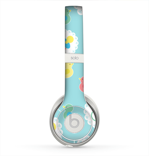 The Colorful Rubber Ducky and Blue Skin for the Beats by Dre Solo 2 Headphones