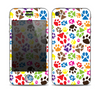 The Colorful Scattered Paw Prints Skin for the Apple iPhone 4-4s