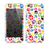 The Colorful Scattered Paw Prints Skin for the Apple iPhone 5s