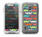 The Colorful Scratched Mustache Pattern Skin for the Samsung Galaxy S5 frē LifeProof Case