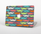 "The Colorful Scratched Mustache Pattern Skin Set for the Apple MacBook Pro 15"" with Retina Display"
