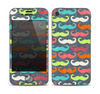 The Colorful Scratched Mustache Pattern Skin for the Apple iPhone 4-4s