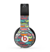 The Colorful Scratched Mustache Pattern Skin for the Beats by Dre Pro Headphones