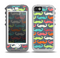 The Colorful Scratched Mustache Pattern Skin for the iPhone 5-5s OtterBox Preserver WaterProof Case