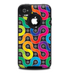 The Colorful Seamless Vector Snake Skin for the iPhone 4-4s OtterBox Commuter Case