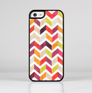 The Colorful Segmented Scratched ZigZag Skin-Sert for the Apple iPhone 5c Skin-Sert Case