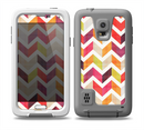 The Colorful Segmented Scratched ZigZag Skin for the Samsung Galaxy S5 frē LifeProof Case