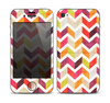 The Colorful Segmented Scratched ZigZag Skin for the Apple iPhone 4-4s