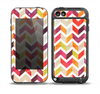The Colorful Segmented Scratched ZigZag Skin for the iPod Touch 5th Generation frē LifeProof Case