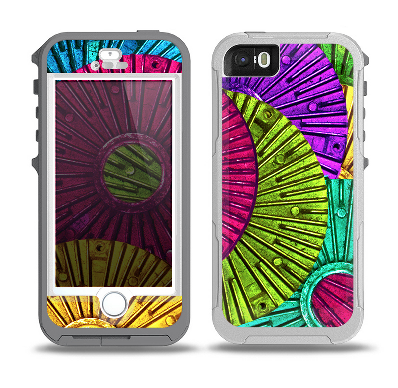 The Colorful Segmented Wheels Skin for the iPhone 5-5s OtterBox Preserver WaterProof Case