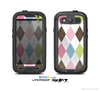 The Colorful Stitched Plaid Shapes Skin For The Samsung Galaxy S3 LifeProof Case