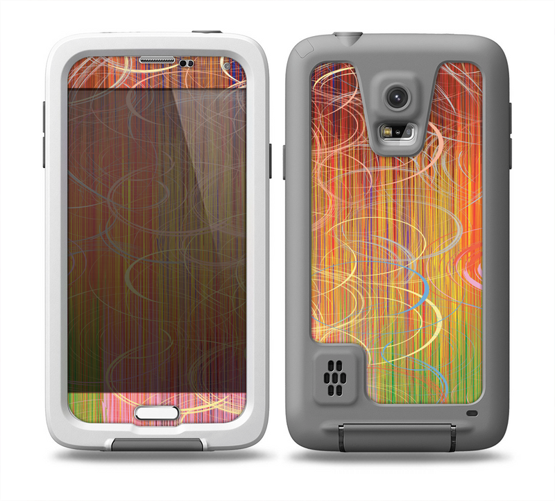 The Colorful Stripes and Swirls V43 Skin for the Samsung Galaxy S5 frē LifeProof Case