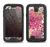 The Colorful Translucent Water-Flowers Samsung Galaxy S4 LifeProof Nuud Case Skin Set