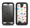 The Colorful Travel Collage Pattern Samsung Galaxy S4 LifeProof Fre Case Skin Set