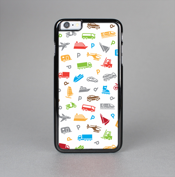 The Colorful Travel Collage Pattern Skin-Sert Case for the Apple iPhone 6 Plus